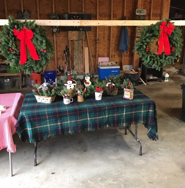 Baskets and wreaths for sale